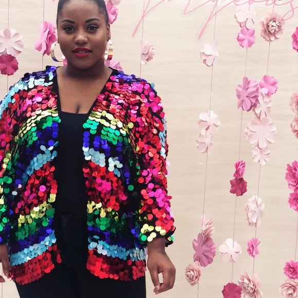 90e5d547298 ASOS Curve Jackets   Blazers - ASOS Curve Rainbow Sequin Kimono